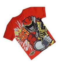 New Ex Store Red Dino Supercharge Power Rangers Go Go T-ShirtTop 18m-7 Years