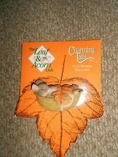 Charming Tails-Fall Is Here Mouse Pin-New On Card-Adorable!