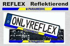 Paramedic, Nummernschild Aufkleber, reflektierend