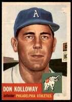 1953 Topps EX Don Kolloway Philadelphia Athletics #97