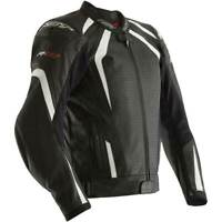 RST R-18 CE Black / White Motorbike Motorcycle Leather Sports Jacket | All Sizes
