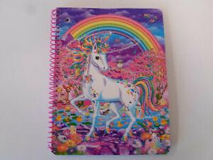 New Lisa Frank Rainbow Hunter Unicorns Glittery 1 Subject Spiral Notebook
