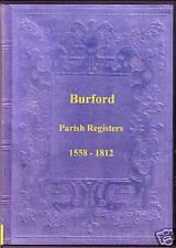 Genealogy - Burford Parish Registers (Shropshire)