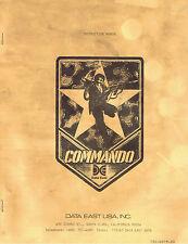Commando Arcade Game Machine Instruction Manual Data East FREE SHIPPING