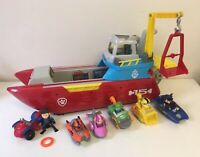 Paw Patrol Sea Patroller Transforming  Boat With Light/sounds & Sea Racers   Lot