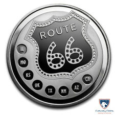 1 oz Get Your Kick on Route 66 Silver Round