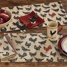 Placemat - Hen Pecked by Park Designs - Kitchen Dining Chicken Rooster