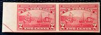 1909 US Stamp SC#373 2c imperf. pair Hudson-Fulton MLH/OG