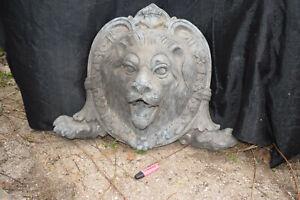 Sehr großer Löwenkopf-Wandbrunnen, England, Bronze, Antikpatina, ca.45kg, B:77cm
