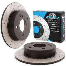 REAR GROOVED DRILLED 258mm BRAKE DISCS FOR NISSAN 200SX S14 S14A SILVIA JDM