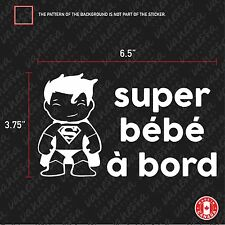 2X SUPER BÉBÉ À BORD SUPERMAN sticker vinyl decal