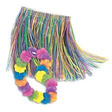 Hula Skirt Lei Set Child Party Supplies Decoration Tropical Hawaiian Costume