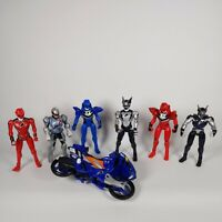 6 X Power Rangers 2007 Jungle Fury Action Figures Bundle and bike free postage