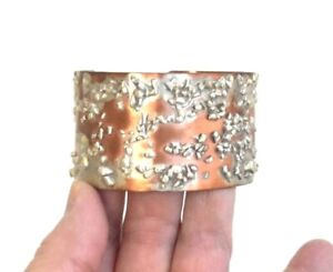PatCahill Cuff Bracelet Copper Sterling Silver Nuggets $140 Handmade