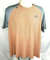The North Face Short Sleeve, Flash Dry Tee Shirt, Mens L, Orange/Gray, EUC