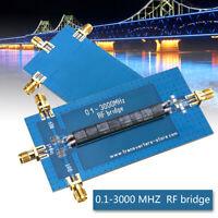 New RF SWR Reflection Bridge 0.1-3000 MHZ Antenna Analyzer VHF VSWR Return Loss