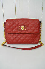 MARC JACOBS Damen Tasche Bag Mod. SINGLE Leder Gesteppt Glieder Rot Bordeaux