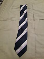 George Boys Tie Striped Blue Purple White