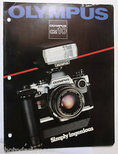 Olympus OM-10 Camera System Sales Brochure Pamphlet Book - English - USED B69