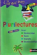 Plurilectures * CM2  L'île aux mots * Bentolila NATHAN scolaire lecture document