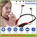 Wireless Bluetooth Neckband Earphone Earbud Headset For iPhone Samsung Android
