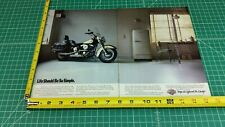 1988 Harley-Davidson FLSTC Heritage Softail Classic 2-Page Ad / Color Photo