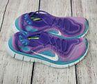 Nike Free Flyknit+ 5.0 Atomic Purple Running Shoes 615806-515 Womens size 7.5