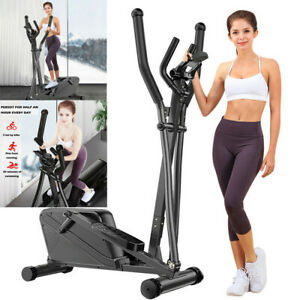 Magnetic Elliptical Trainer Machine W/Tablet Holder Digital Display Home Fintess