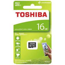 Toshiba 16 GB micro SD SDHC M203 TF Card 100mb/s tarjeta de memoria clase 10