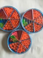 990 Ast ROUND RED/ORANGE FISHING BEADS 8, 6, 5, & 4mm SALTWATE RIG TROUT EGG