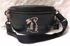 Coach x Selena Gomez 39316 Bunny Belt Bag Fanny Sling Pack BLACK Leather NWT NIP
