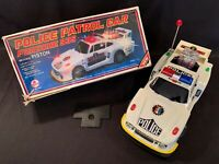 Vintage 80s Hsiang Shan Police Patrol Race Car Porsche 935 Moving Pistons W/Box