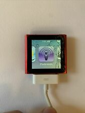 Apple iPod nano 6th Gen Red (16 GB)  READ. NEW BATTERY - Works Perfect - Screen