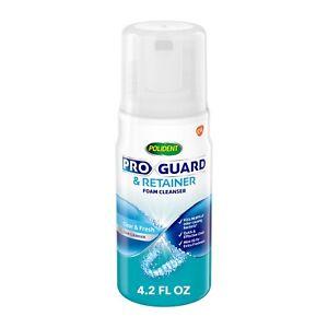 Polident Pro Guard & Retainer Foam Cleanser, Clear, 4.2 Fl. Oz.
