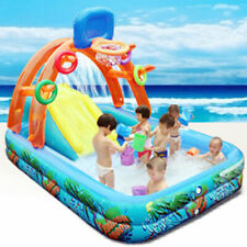 Fun Lawn Water Slides Inflatables Pools Children Kids Summer Set Outdoor Toys