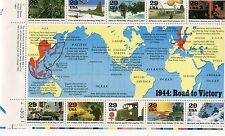 Stati Uniti/United States  1994 la seconda guerra mondiale 4 serie mnh