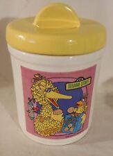 "Vintage Sesame Street Cookie Jar Big Bird 1980, Yellow Lid 8"" Tall MUPPET Inc."