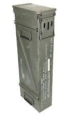 US Army Olive Large Tall Metal Ammo Box Used Military Surplus