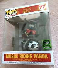 Funko Pop MUSHU RIDING PANDA Deluxe ECCC Shared Exclusive Figure 77 Mulan NEW