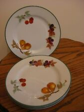 """ROYAL WORCESTER EVESHAM VALE 8.5"""" SALAD/BREAKFAST PLATE,AS NEW,4 AVAILABLE"""