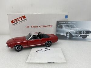 1/24 Danbury Mint  GMP 1967 Ford GT500 EXP Red Rare Limited Read Me