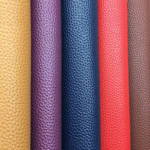 PU Leather Fabric Faux leatherette Litchi For Sewing Bag Bow Earring Handmade