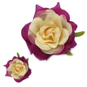 100pcs Big Silk Rose Bud Heads Artificial Fake Flower Wedding Party Decoration