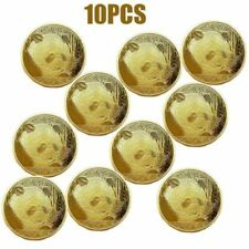 Plated Panda Baby Commemorative Challenge Coin Collectible Gift old Color 10PC