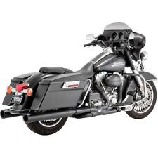 Vance & Hines - VH0148 - Power Duals Head Pipes, Black for Harley-Davidson.