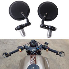 Handlebar Bar End Cafe Racer Motorcycle Mirrors Aluminum Black Right and Left Us
