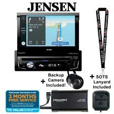 "Jensen Vx7014 7"" Flip Out Navigation Receiver with SiriusXm Sxv300V1 Package Rb"
