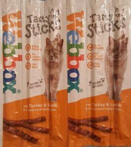 Webbox Cat/Kitten tasty sticks/chews With Turkey And Lamb 6 Sticks