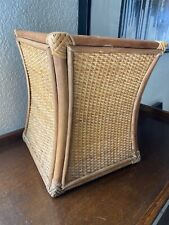 Bamboo Wicker Rattan Waste Paper Basket Trash Can Plant Pot 11