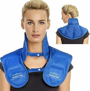 Microwavable Heating Pad for Neck and Shoulders - Weighted Hot & Cold Wrap